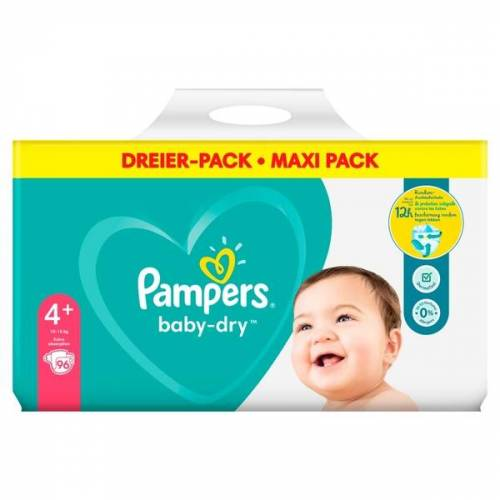 Pampers - Windeln Mega Pack Baby Dry Maxi, Gr. 4+ (94 Stück)