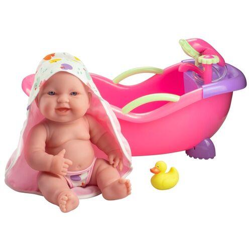 Puppe mit Badewanne, 36 cm
