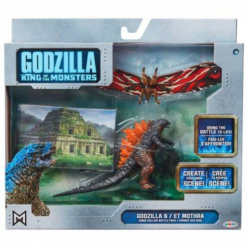 Godzilla - King of Monsters: Godzilla vs Mothra, ca 9 cm.