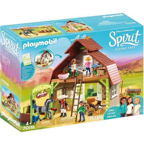PLAYMOBIL - 70118 Stall mit Lucky, Pru & Abigail