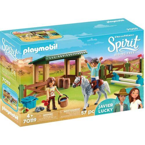 PLAYMOBIL - 70119 Reitplatz mit Lucky & Javier