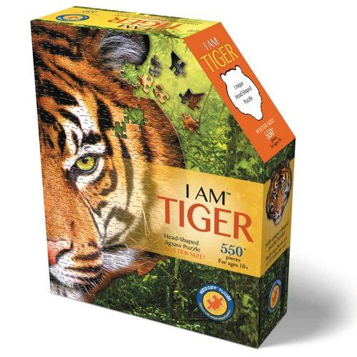 Carletto Shape Puzzle: Tiger, 550 Teile