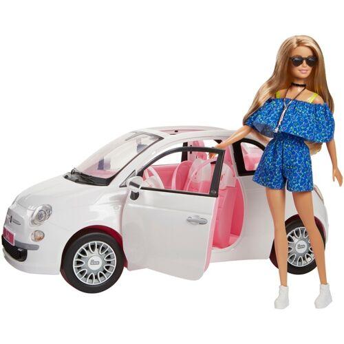 Mattel Barbie Puppe mit Fiat 500