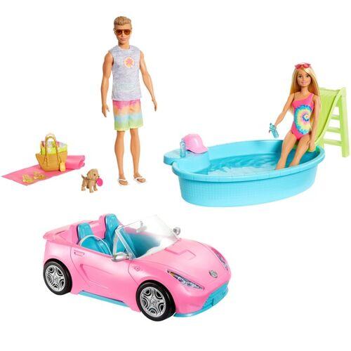 Barbie Puppe mit Pool und Cabrio