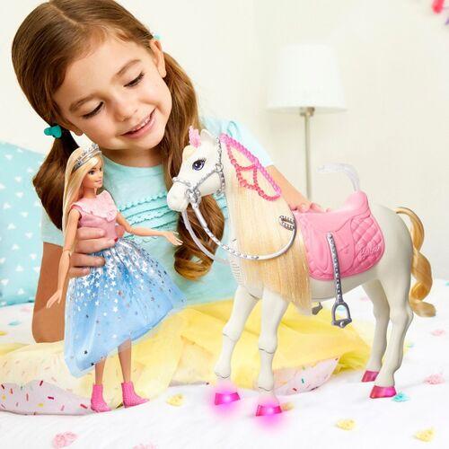 Mattel Barbie Prinzessinnen Abenteuer Tanzendes Pferd mit Prinzessin Puppe