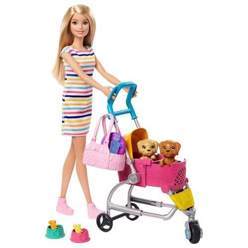Mattel Barbie Hunde Buggy Spielset mit Puppe
