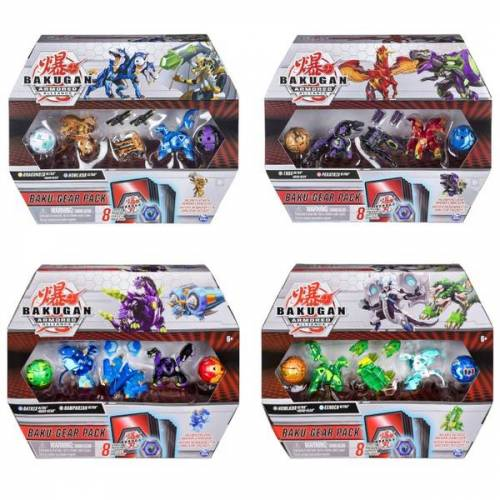 Bakugan Baku-Gear Pack mit 4 Armored Alliance Bakugan