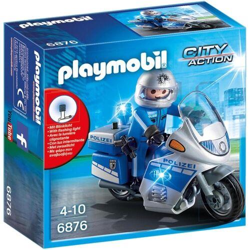 PLAYMOBIL - 6876 Motorradstreife mit LED-Blinklicht