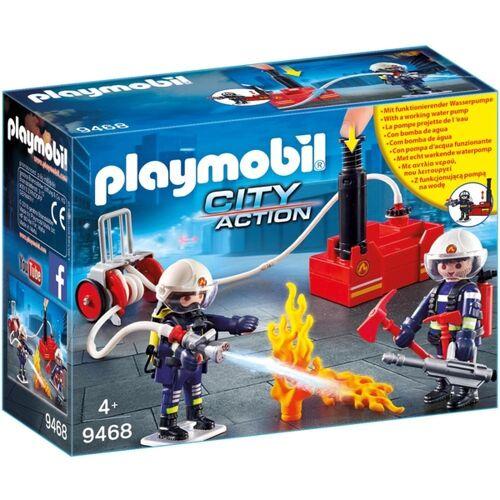PLAYMOBIL - 9468 Feuerwehrmänner mit Löschpumpe