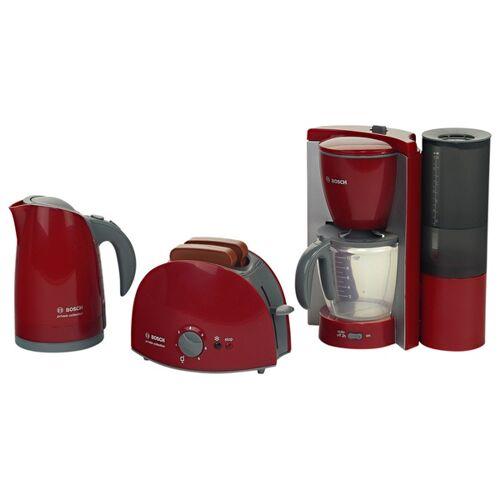 BOSCH - Kinder Frühstücksset mit Kaffeemaschine, Wasserkocher und Toaster, rot