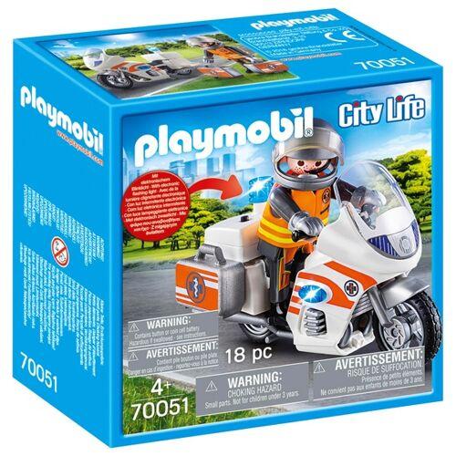 PLAYMOBIL - 70051 Notarzt-Motorrad mit Blinklicht