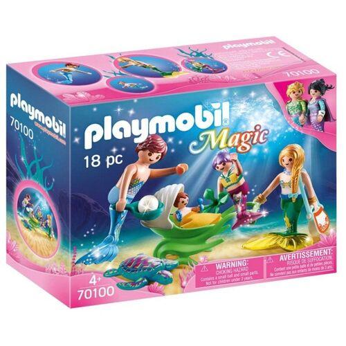 PLAYMOBIL - 70100 Familie mit Muschelkinderwagen
