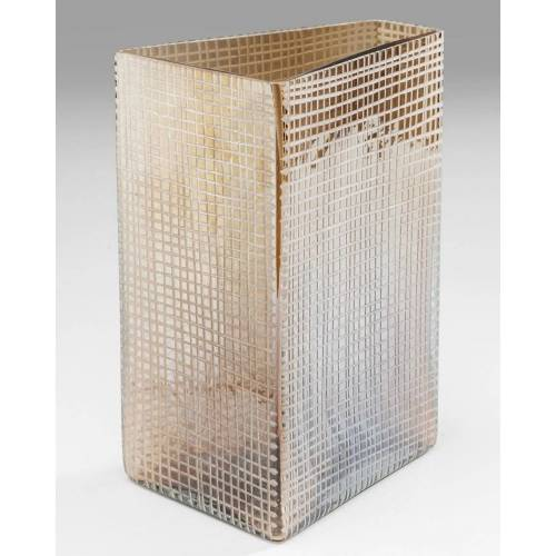 KARE Design Vasen Vase Skyscarper Choco 23 cm (30607) (braun)