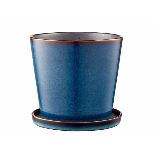 Bitz Blumentöpfe Blumentopf blue / black 14 cm