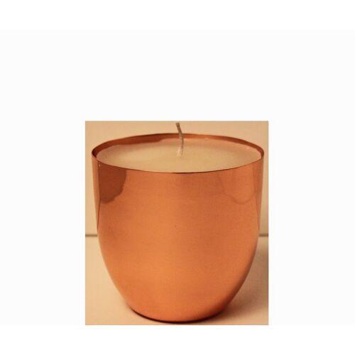 Giftcompany Windlichter ohne Henkel Fin Windlicht mit Wachs kupfer (76631) (kupfer)