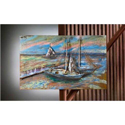 """GILDE Wandbilder & -deko GALLERY 3D-Metallbild """"Sailing"""""""
