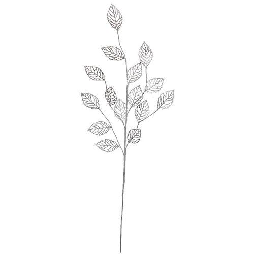 ASA Kunstpflanzen & -blumen Xmas Blattzweig silber 65 cm (silber)