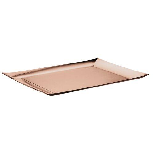 Sambonet Tabletts Linea Q Edelstahl/PVD Rum Tablett 43 x 28 cm (braun)
