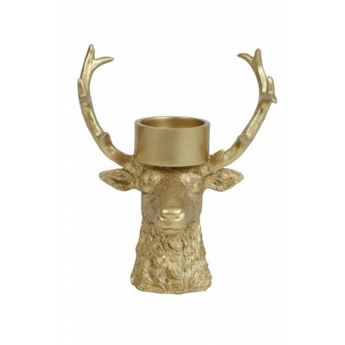 Light & Living Teelichthalter DEER Teelichthalter gold 27 x 10,5 x 22 cm (gold)