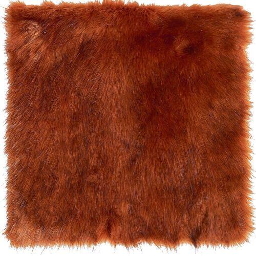 Winter Creation Decken & Felle Seat Pad / Fell-Sitzkissen Sunset Wolf 40 x 40 cm (rot)
