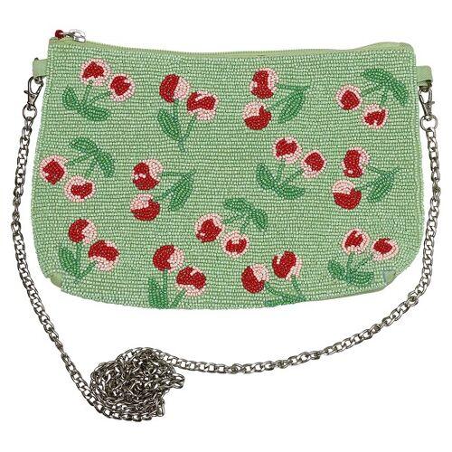 Greengate Strawberry, Cherry Berry & Mary Cherry Berry Handtasche pale green 27 cm (grün)