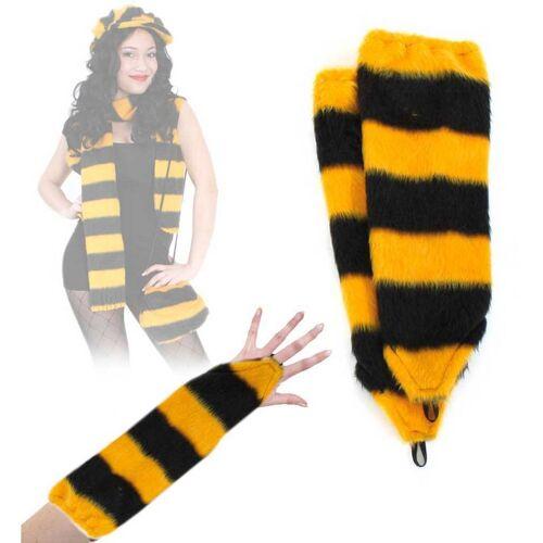Gurimo-tex Zubehör Handschuhe Plüsch Biene gelb-schwarz (5