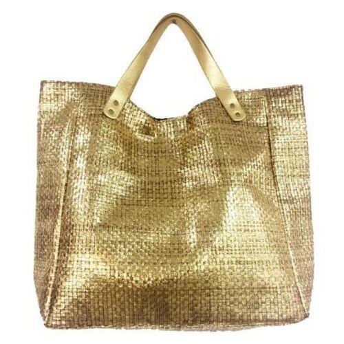 Cor Mulder Strandtaschen Papier-Tasche (76158) (gold)