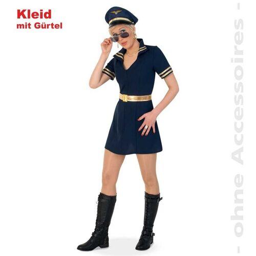 Gurimo-tex Berufe Damen-Kostüm Kleid Pilotin 40 (107003)