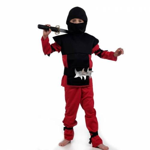 Limit Kostüme für Kinder Roter Samurai Gr.3-5Jahre (MI951) NEU