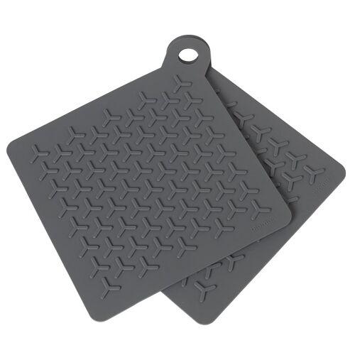 Blomus Topflappen & Kochhandschuhe Flip Magnet Topflappen Set2 (grau)