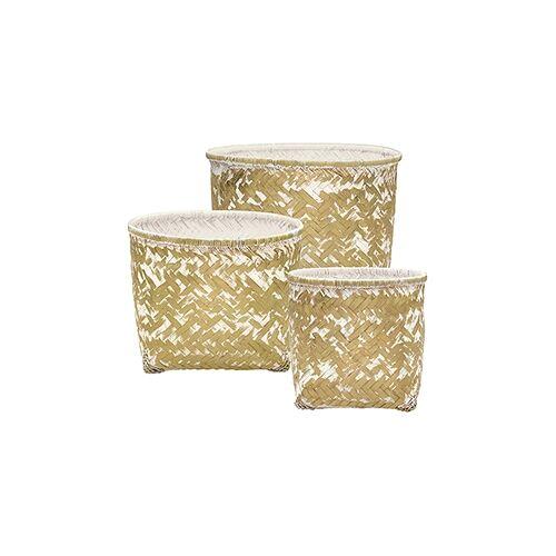 Greengate Diverses Korb weiss/gold klein