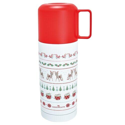 Greengate Christmas Bambi Thermoskanne white 350 ml (weiss)