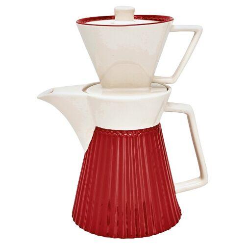Greengate Alice Alice Kaffeekanne mit Filteraufsatz red 25 cm (rot)