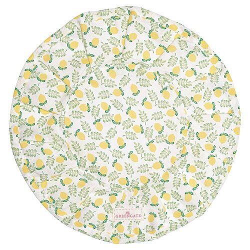 Greengate Limona, Spot & Pipa Limona Brotkorbtuch rund petit wihte 34 cm (weiss)