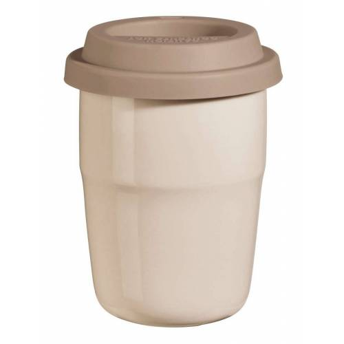 ASA THERMO cup & go Thermobecher creme Deckel braun 0,2 l