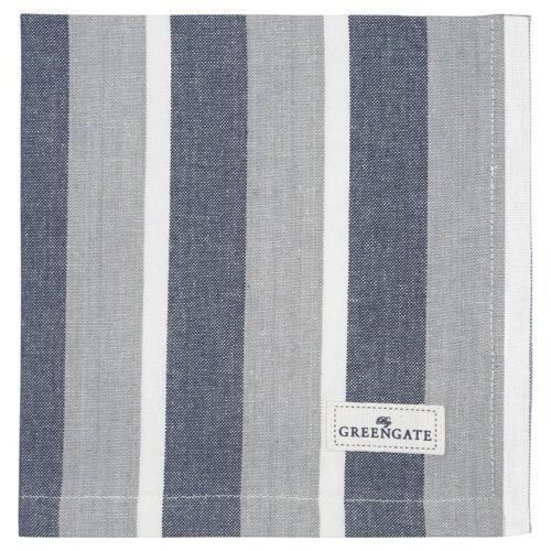 Greengate Alyssa, Riley & Tova Alyssa Stoffserviette blau 40 x 40 cm (blau)