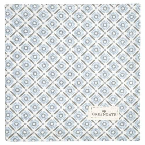 Greengate Alva, Nicoline & Saga Alva Stoffservietten white 40 x 40 cm (weiss)