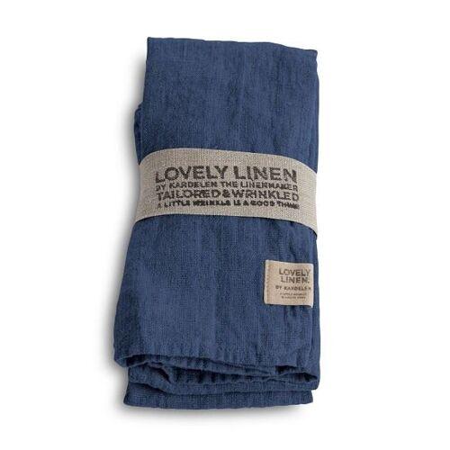 Lovely Linen Servietten & -ringe Lovely Serviette Leinen denim blue (1Stück) (blau)
