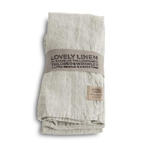 Lovely Linen Servietten & -ringe Lovely Serviette Leinen light grey (1Stück) (grau)