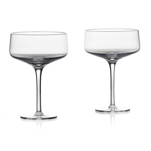 Zone Denmark Cocktailgläser Rocks Coupe/Cocktail Glas 0,27 l Set2 (klar)