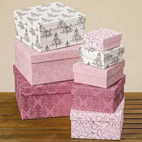 Boltze Geschenkverpackungen Kartonage rosa 19 cm (1 Stück) (rosa)