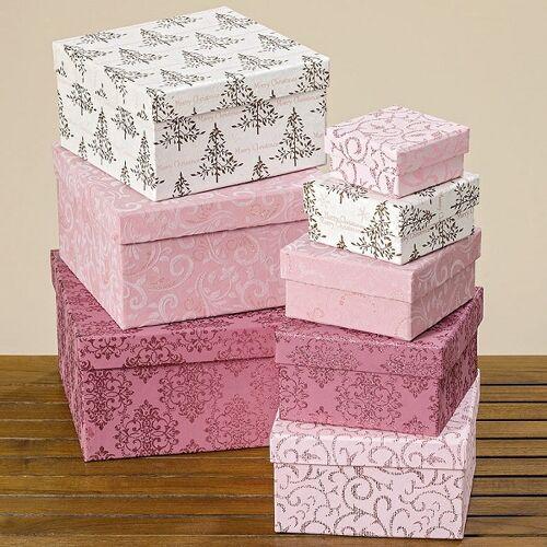 Boltze Geschenkverpackungen Kartonage rosa 26 cm (1 Stück) (rosa)