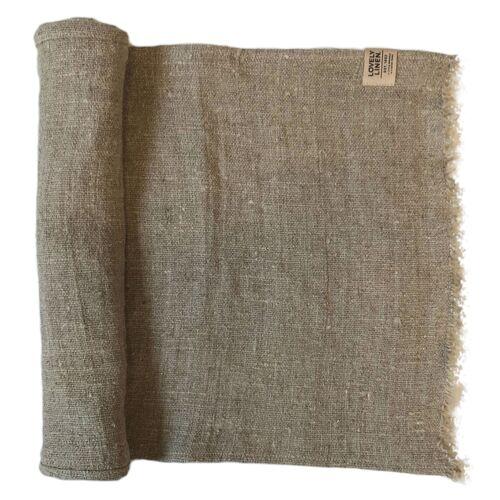Lovely Linen Servietten & -ringe Rustic Raw Tischläufer Leinen nat. beige 40 x 90cm (beige)