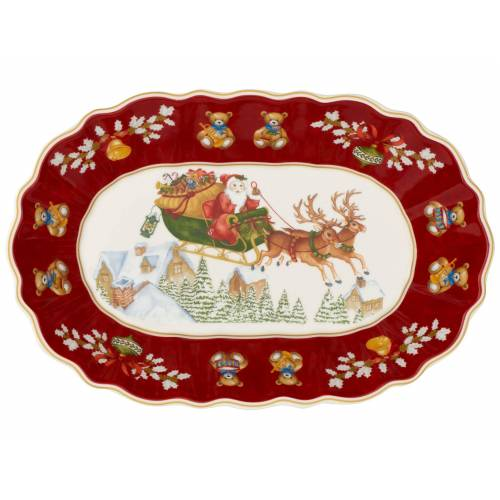 Villeroy & Boch Toy's Fantasy Toy's Fantasy Schale oval gross Schlitten (rot)