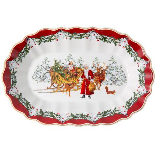 Villeroy & Boch Toy's Fantasy Toy's Fantasy Schale oval groß Santa mit Schlitten