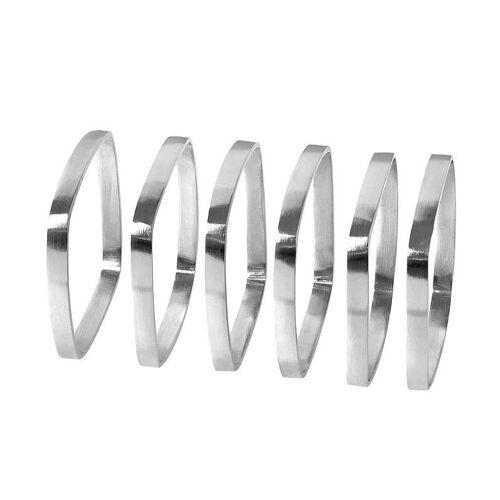 Blomus Servietten & -ringe FINO Serviettenringe matt nickel Set6 (silber)