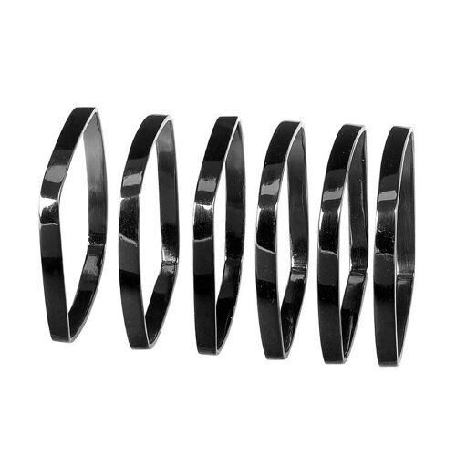 Blomus Servietten & -ringe FINO Serviettenringe black nickel Set6 (schwarz)
