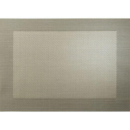 ASA Tischsets Tischset gewebter Rand bronze metallic 46 x 33 cm (bronze)