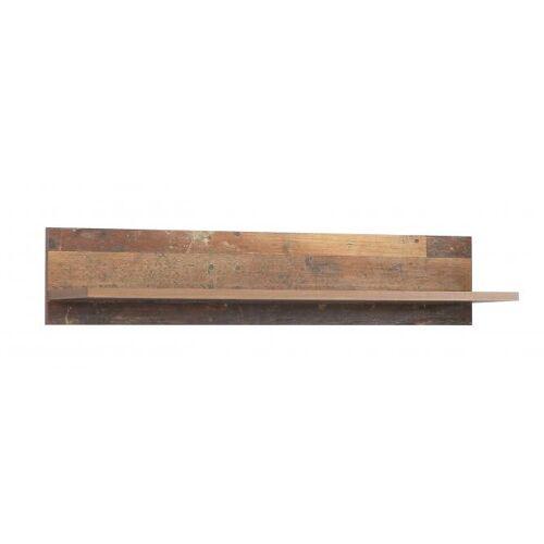 Wandregal 120 cm CLIF von Forte Old-Wood Vintage