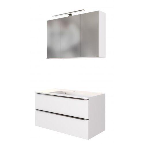 Waschtisch-Set 100 GARDA von Held Möbel Weiß matt